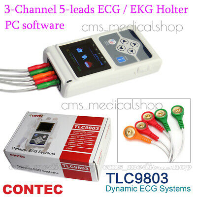 CONTEC 3 Channel Holter ECG System,PC software 24 hours recorder,USA SHIPMENT