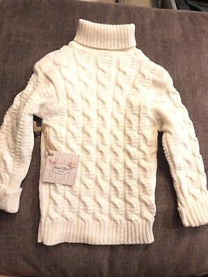 New Girl Boy Toddler 3T Winter Sweater Warm Soft Unisex  White Cream