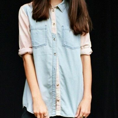 f8ff4b139 URBAN OUTFITTERS BDG Chambray Flannel Button Down Shirt M - $14.00 ...