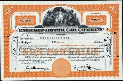 Packard Motor Car Co, Of Michigan, American Bank Note Co Stock Cft.