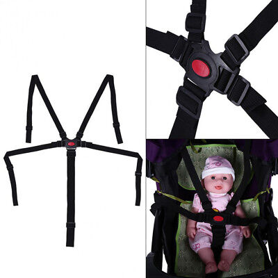 5 Point Harness Baby Safety Seat Belt Strap For Stroller High Chair Pram Car