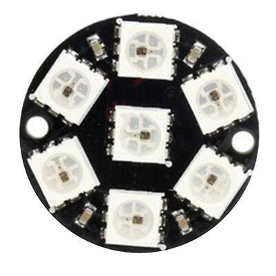 1/3PCS CJMCU-WS2812 5050 7 Pixel RGB LED Ring Works with NeoPixel Library