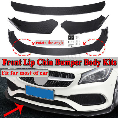 Carbon Black Front Bumper Lip Body Kit Spoiler For Mercedes Benz W251 W176 W205