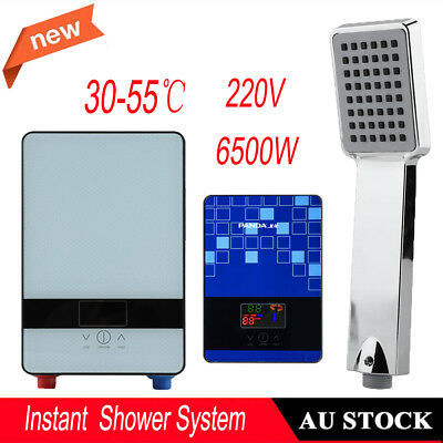 Portable Electric Hot Water Heater Home Camping Caravan Instant Shower System AU