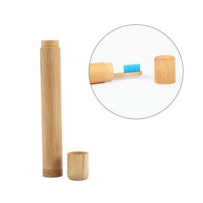 Portable Natural Bamboo Toothbrush Case Tube For Eco Travel Friendly Hand Made