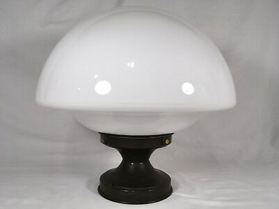 XL Antique Milk Glass Schoolhouse Ceiling Light Fixture VTG Art Deco Chandelier