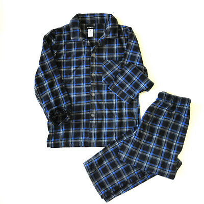 NEW Men's Pajamas Plaid Fleece Sleepwear Long Sleeve PJ Set Flannel Warm