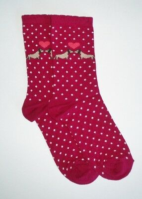 Red Wine Color Kissing Dachshund Dog Women's Socks