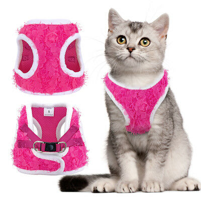 Small Dog Cat Harness Escape Proof Mesh Padded Puppy Soft Vest Harness Pink SML