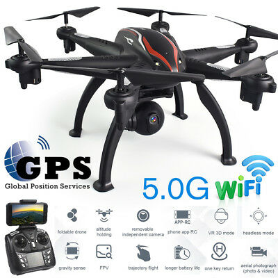 6 axis FPV RC Drone with 720P HD Wide-angle 5g WIFI Adjustable Camera Dual GPS