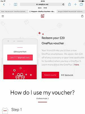 £20 accessory voucher to be redeemed when you buy a OnePlus 6 6T Discount