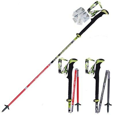 New Trekking Pole Carbon Fiber Hiking Pole Walking Stick Ultralight &Collapsible
