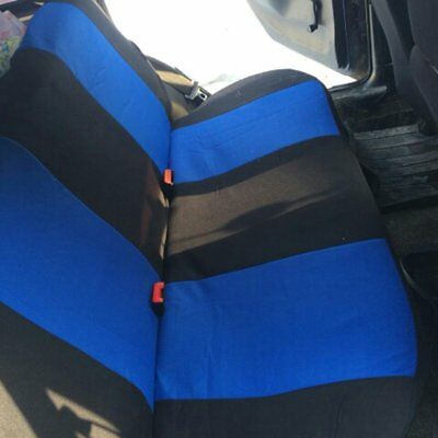 9x Car Seat Covers Full Set Front&Rear Seat Back Head Rest Protector Blue F7