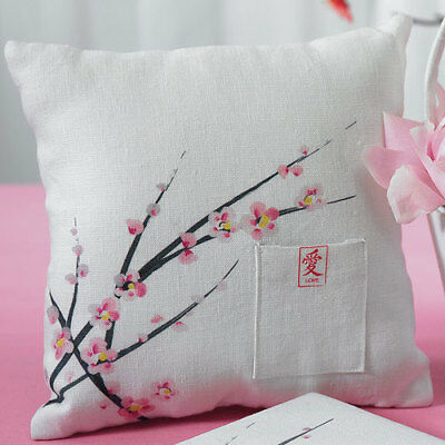 Wedding Ring Cushion with Cherry Blossom Branches Design