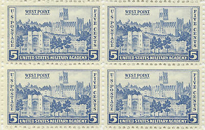 1937 United States Military Academy West Point US Stamp Block (4) MINT CONDITION