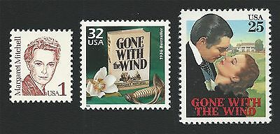 GONE WITH THE WIND - Margaret Mitchell & Book & Movie Stamps Set MINT CONDITION!