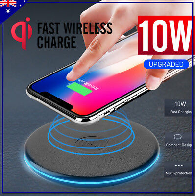 Qi Wireless Charger FAST Charging Pad For iPhone 8 X Xs Xr XsMax Samsung S9 S8