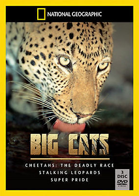 National Geographic - Big Cats - 3DVD SET -BRAND NEW not sealed CHEETAHS LEOPARD