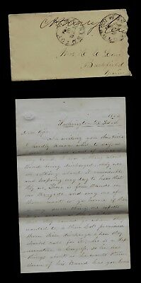 11th Maine Infantry CIVIL WAR SOLDIER LETTER from Washington DC - Good Content