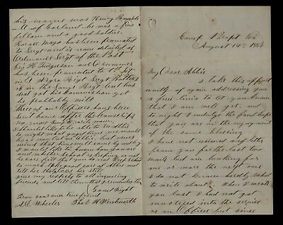 15th Maine Infantry CIVIL WAR LETTER - Thousands of Grant's Troops LOUISIANA !!