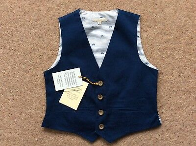 John Lewis Sateen Waistcoat From The Heirloom Collection BNWT Age 7 Years