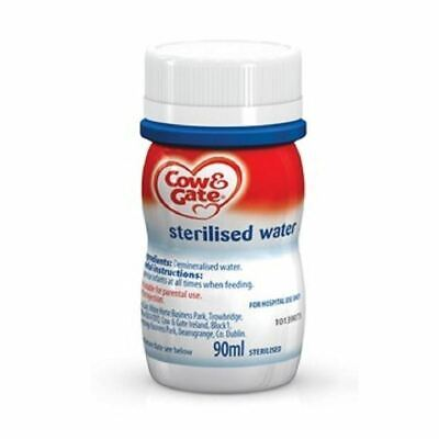Cow & Gate Sterilised Water 90ml 1 2 3 6 12 Packs