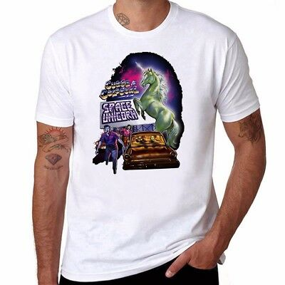 Space Unicorn funny T-shirts Men's Ringer Cotton Short Sleeve Tee tops