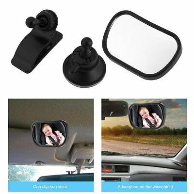 Baby Safety Car Mirror with Clip & Suction Cup Rearview Infant Toddler Mirror KA