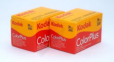 Kodak Colorplus 200 35mm 36exp 2 Rolls Cheap Colour Print Film Free UK Postage