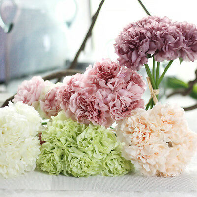 5 Heads 1 Bunch Fake Artificial Floral Flower Bouquet Hydrangea Party Decors