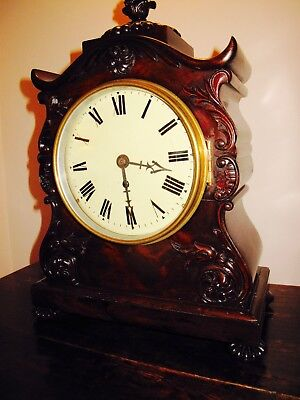 Antique Large Singel Fusee Bracket Clock Board room / Table Clock