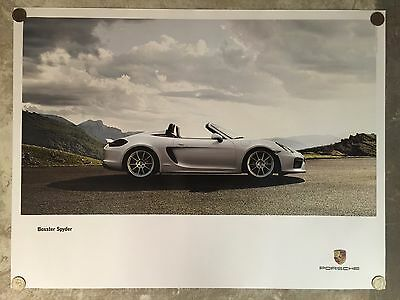 Awesome L@@K 2002 Porsche Boxster Showroom Advertising Sales Poster RARE!