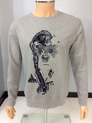 Maharishi Mhi Boys Embroidered Jumper Size 14++, Grey, Small Men, Immaculate
