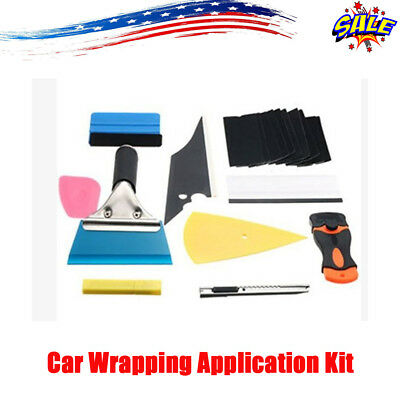 Window Tint Tools Car Wrapping Application Kit Sticker Vinyl Sheet Squeegee