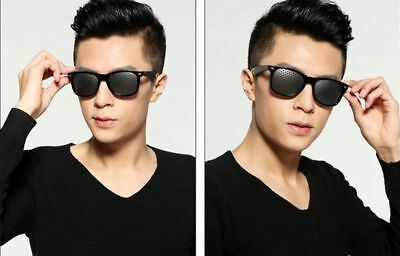 Unisex Anti-fatigue Eyesight Improve Pinhole Stenopeic Eyeglasses Sunglasses