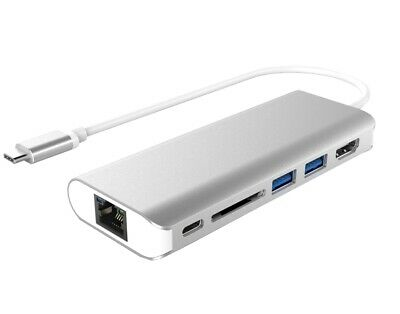 Astrotek All-in-One Dock Thunderbolt USB-C 3.1 Type-C to HDMI+USB3.0+Card Rea...