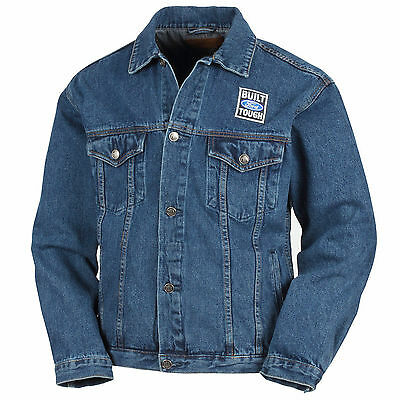 Brand New Bft Built Ford Tough Size Xl Stonewashed Denim Jacket!