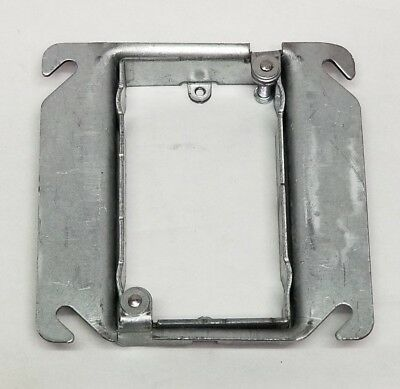 """x25 Eaton AMR158 Square One Gang Adjustable Mud Device Ring 5/8 to 1.25"""" Raise"""