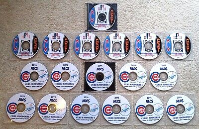 Chicago Cubs 10 Game/17 Dvd Set - All 2016 Nlds & Nlcs Playoff Games Vs Sf & La