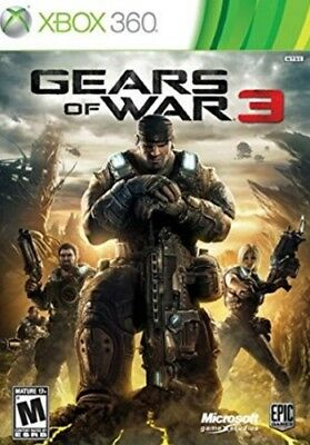 Gears of War 3 (Microsoft Xbox 360, 2011) Complete Working Video Game