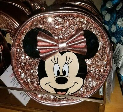 NEW Disney Parks Rose Gold Minnie Mouse Girls Crossbody Purse Bag
