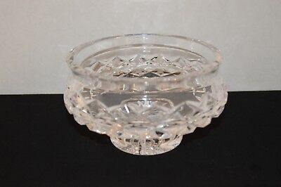 "Waterford Cut Crystal 5"" Footed Candy Dish-Pattern Alana Made in Ireland"
