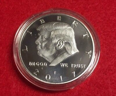Donald J Trump 45Th President Of The United States Ecapsulated Silver 38Mm Coin