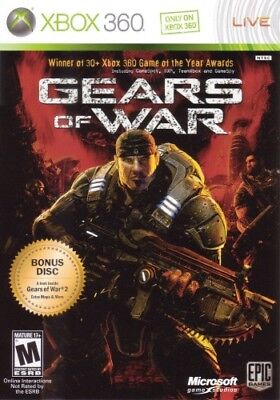 Gears of War (Microsoft Xbox 360, 2006) Complete Working Video Game