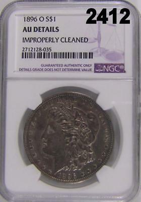 1896 O Ngc Certified Au Details Cleaned Morgan Silver Dollar Rare Date #2412
