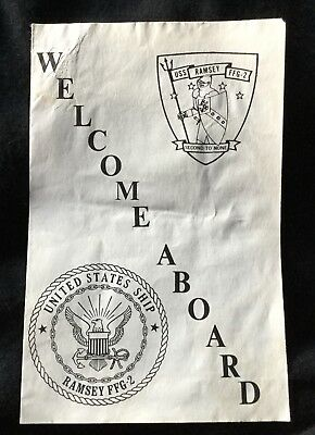 USS RAMSEY FFG-2 Welcome Aboard Booklet - United States Navy Ship PACIFIC FLEET