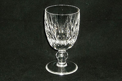 "Waterford Crystal MAUREEN Claret Wine Glass Vertical Cuts 4-3/4"" Tall"