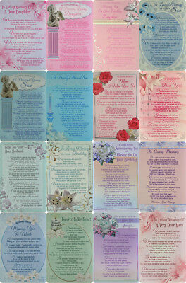 Plastic  Grave Memorial Loving,Birthday,Missing you Card Various Relations