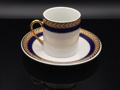 Antique Made In Japan. Fine Coffee Cups/Saucers Gold Rim, Cobalt Blue & Gold.