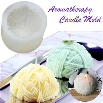 3D Ball of yarn shape silicone candle mold 3D silicone soap molds silicone molds